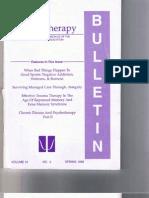 Psychotherapy Bulletin 31(2) Spring 1996