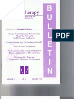 Psychotherapy Bulletin 31(3) Summer 1996