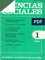 Ciencias Sociales 1-1989- Academia de Ciencias de la URSS