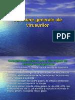 Virusologie. Caractere generale