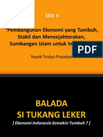 2.a. Pembangunan Ekonomi Tumbuh, Stabil Mensejahterakan- Ust.yoyok