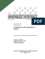 Loi limitant les activités pétrolières et gazières (13 juin 2011)