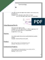 terminology booklet