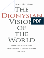 Nietzsche, Friedrich - Dionysian Vision of the World (Univocal, 2013)
