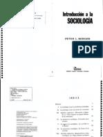 Peter Berger - Introducción a la sociologia