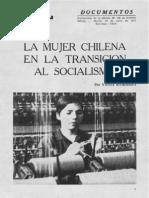 La mujer chilena en la transición al socialismo