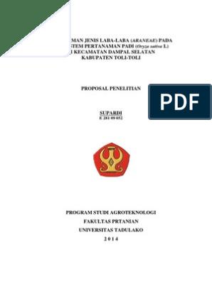 Proposal Penelitian Agrotek