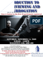 Introduction to Interviewing and Interrogation