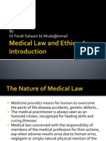 Week 1 Medical Law and Ethics-An Inintro
