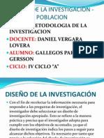DISEÑO DE LA INVESTIGACION - POBLACION