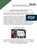 Informe 2013 situación de los Derechos Humanos en República Dominicana