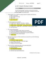 Biology 2A03 Quiz1 2012A Answers 1