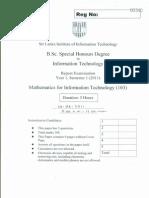 Mathematics for Information Technology 103