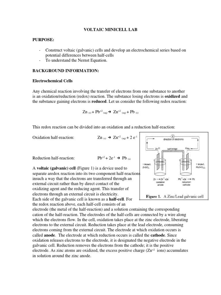 Galvanic series lab