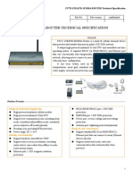 f3725 Lte&Td-scdma Router Specification