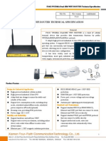 f3432 Wcdma Dual-sim Wifi Router Specification