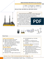 f3834s Lte&Wcdma Wifi Router Specification