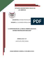 La Intervención de la Ciencia Criminológica en el Sistema Penitenciario.