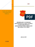 Prioridades e Intereses Argentinos en La Zona Austral