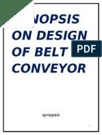 48750150 Project Report on Design of Belt Conveyor