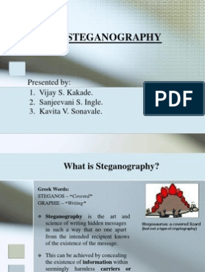 video Steganography Ppt | File Format | Telecommunications