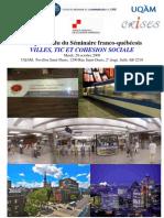 Compte-rendu du séminaire Villes TIC et cohésion sociale