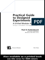 Practical Guide to Designed Experiments