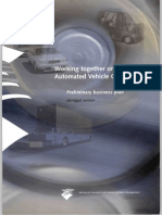 44935336 Working Together on Automated Vehicle Guidance Preliminary Business Plan Abridged Version