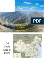 Chinese Oil Shale Activities