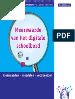meerwaarde van het digitale schoolbord