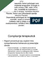 Placebo, Complianta Terapeutica