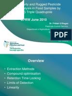Pesticide Residue Analysis GCMS TripleQ_EPRW2010