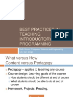 Best Practices in Teaching Introductory Programming - Beth Simon