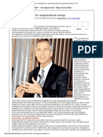 Good Leadership Key for Organisational Change