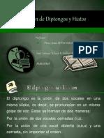 TILDACION DIPTONGO HIATOS