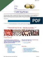Making Castile Soap Reciepes