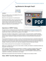 HIPOT Testing Dielectric Strength Test