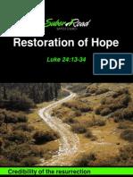 Restoration of Hope