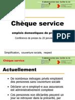 Cheque Service - Presentation