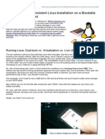 Create a Persistent Linux Installation on a SD Card