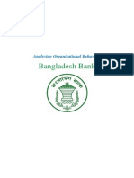 Analyzing Organizational Behavior of Bangladesh Bank