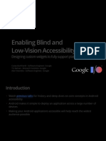 Enabling Blind and Low-Vision Accessibility on Android