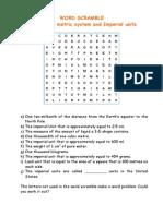 Unit 7 - Word Scramble (Units of Measurement)