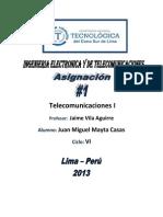 Telecomunicaciones I