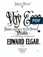 Very Easy Melodious Exercises in the First Position, Op.22 (Elgar, Edward) Piano - acompañamiento