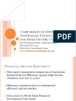 Comparison of Efficiency of Australian Financial Sector - Rock Star Consulting Group