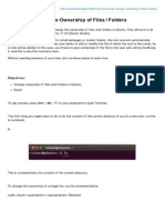 Change Ownership of Files & Folders