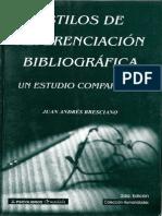 ESTILOS_DE_REFERENCIACION_BIBLIOGRAFICA  METODOLOGÍA