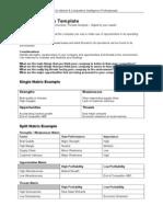 SWOT Tool Analysis Template