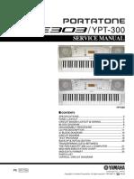 Yamaha Psre303 Service manual